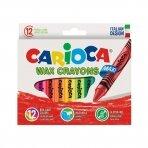 Vaškinės kreidelės CARIOCA Maxi, 12 vnt.