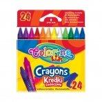 Vaškinės kreidelės, Colorino, 24 spalvų