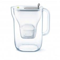 Vandens filtras BRITA Style 2.4L pilkas su vandens filtravimo kasete MAXTRA 1 vnt.