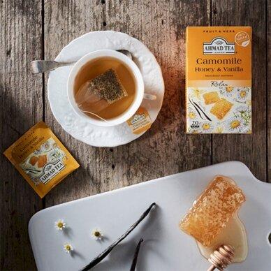 Vaisių ir žolelių arbata AHMAD Camomile Honey & Vanilla, 20 arbatos pakelių x 2 g 2