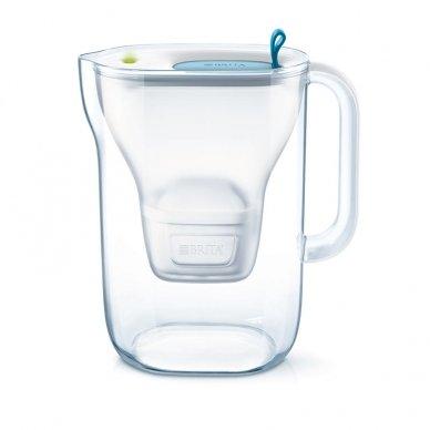 Vandens filtras BRITA Style 2.4L melsvas su vandens filtravimo kasete MAXTRA 1 vnt.400-05455