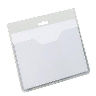 Vardinė kortelė DURABLE, 60 x 90 mm,  (pak. -20 vnt.)