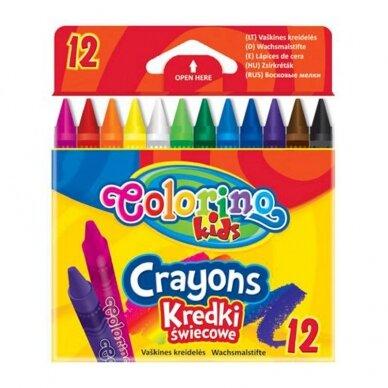 Vaškinės kreidelės Colorino Kids, 12 spalvų