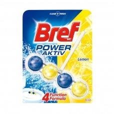 WC valiklis-gaiviklis BREF Power Aktiv Lemon, 51 g