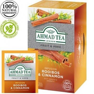 Žolelių arbata AHMAD ROOIBOS & CINNAMON, 20 vokelių po 1,5g